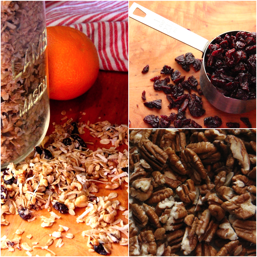 Cherry Pecan Coconut Granola | Gathering Steam